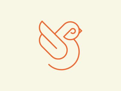 Birb lines orange birb bird