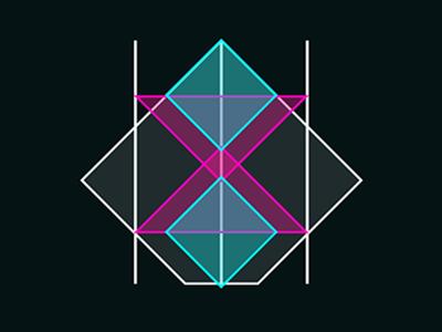 Accidentally a Tron jeff bridges cyan pink neon tron geometry opacity