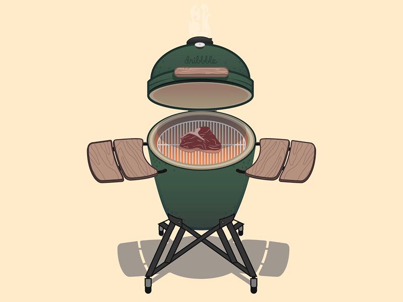 Steak N Celebrate woo first shot grilling illustration vector