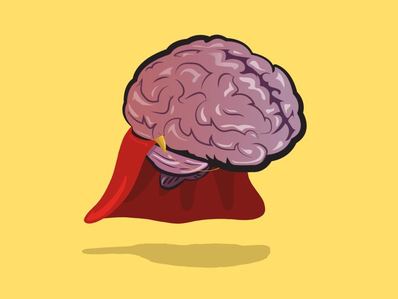 Super Brain. use it smarts ipad pro vector brain