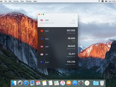 CurrencyX mac app os x