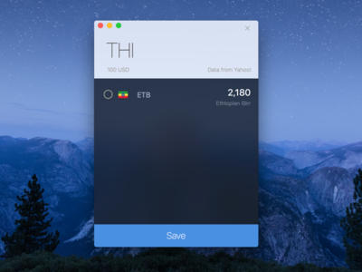 CurrencyX Search UI travel currency macos mac app