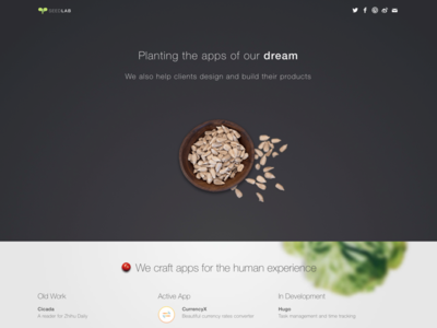 New Seed Lab Site app lab seed plant landing mac app macos