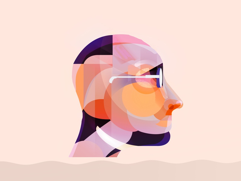 To Rome saas warby parker start up logo tech glasses geometric design branding app austin minimal flat illuatration lifestyle illustration face id human