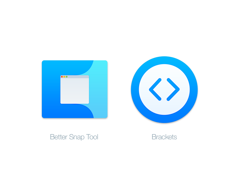 Mac Replacement Icons: Better Snap Tool & Brackets by