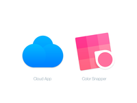 Mac Replacement Icons: Cloud App & Color Snapper