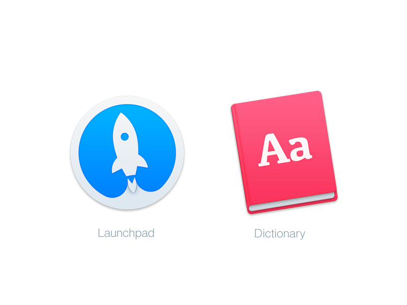 Mac Replacement Icons: Launchpad & Dictionary dictionary launchpad icon yosemite mac