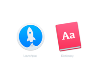 Mac Replacement Icons: Launchpad & Dictionary