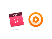 Mac Replacement Icons: Calendar & Time Machine