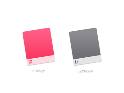 Mac Replacement Icons: InDesign Lightroom