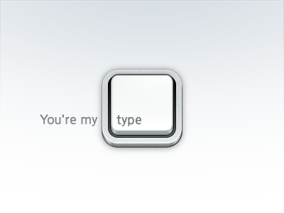 You're My Type apple keyboard type iphone wallpaper