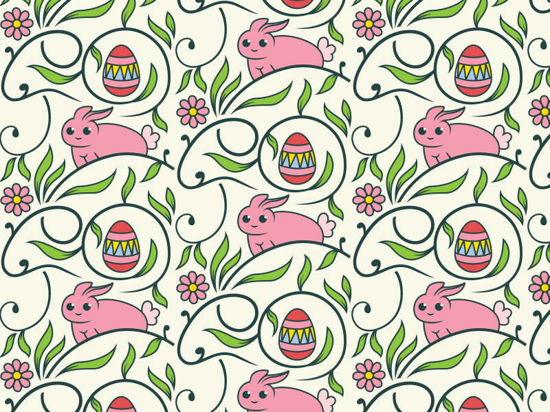 Free Easter Bunny Seamless Vector Pattern By Download