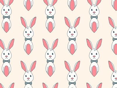 Free Bunny Vector Seamless Vector Pattern By Download Pattern Extraordinary Bunny Pattern