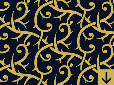 Interlacing Decorative Branches Pattern