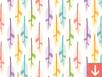 Feathers Seamless Vector Pattern Dribbble