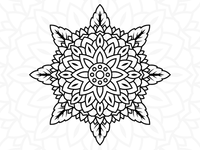 Free Flower Mandala Design