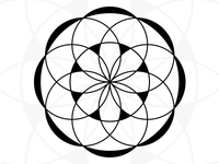 Free Round Mandala - Made from circles