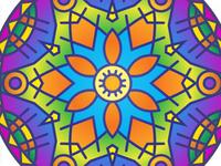 Free Colorful Mandala Design
