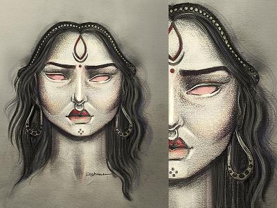 The Devil sundayfunday sunday colouring instaart illustration practice dark night colour pencil digital art