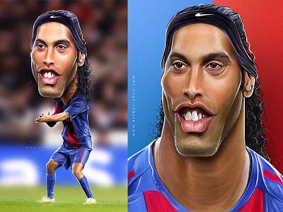 Ronaldinho banglore artist art photoshop caricature football ronaldinho digital