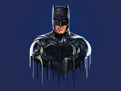 Batman artbyvishnu lowpoly movie face illustrator illustration vector batman