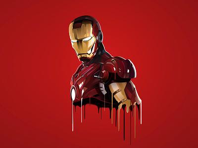 Ironman lowpoly movie character illustrator illustration vector ironman