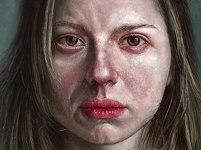 Digital painting realistic photoshop girl face portrait illustration painting digital art