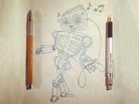 Retro Radio Robot
