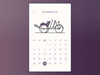 Pedicab Calendar- Daily UI #003