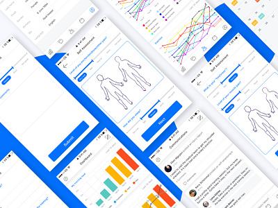 Sport Management App blue ux ui mobile app sport management