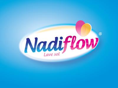 Nadiflow logo bleu brand identity propre clean