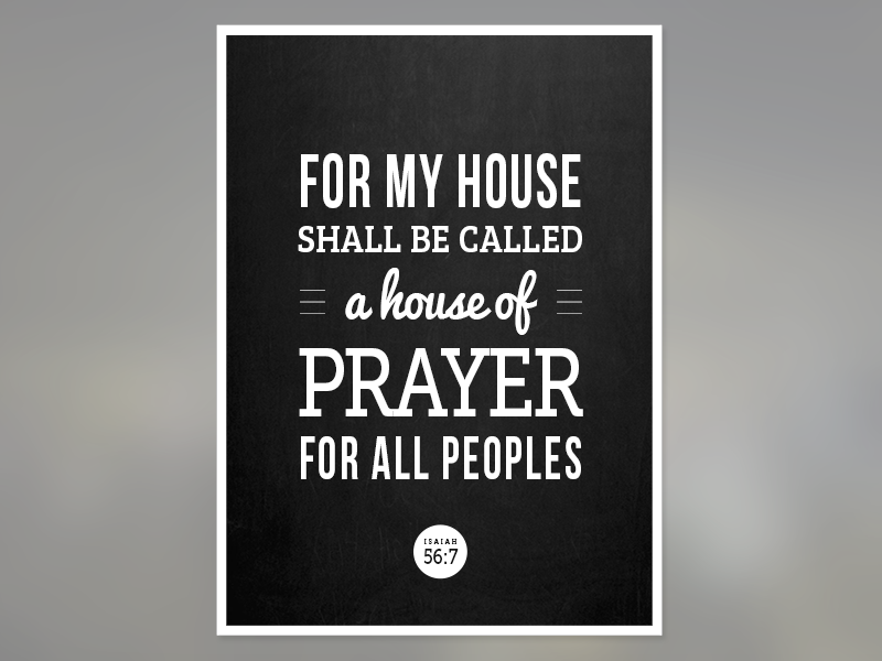 Isaiah Poster typography christian bible verse poster
