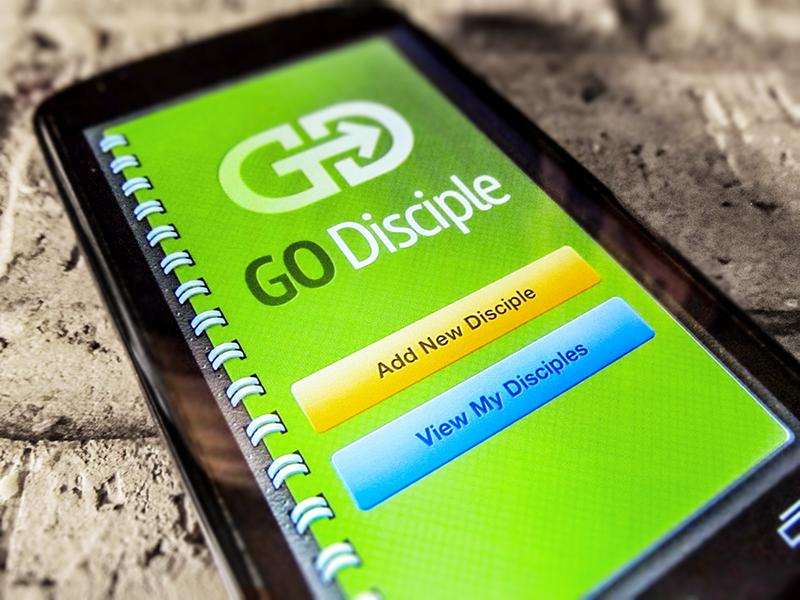 Go Disciple App mobile christian app ui