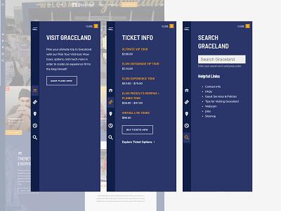 Side Drawer Navigation - Graceland menu drop down navigation
