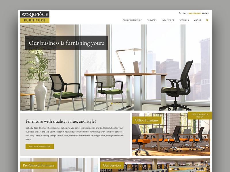 Workplace Furniture business furniture web design website