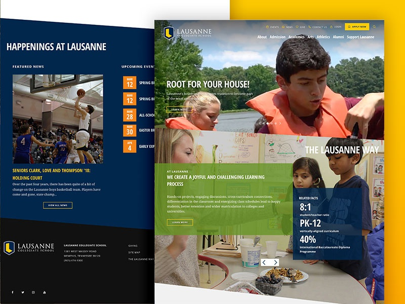 Lausanne School website memphis school education