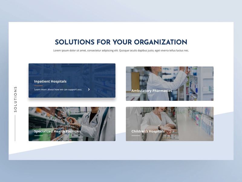 Solutions Grid healthcare clean ui clean design web design ui