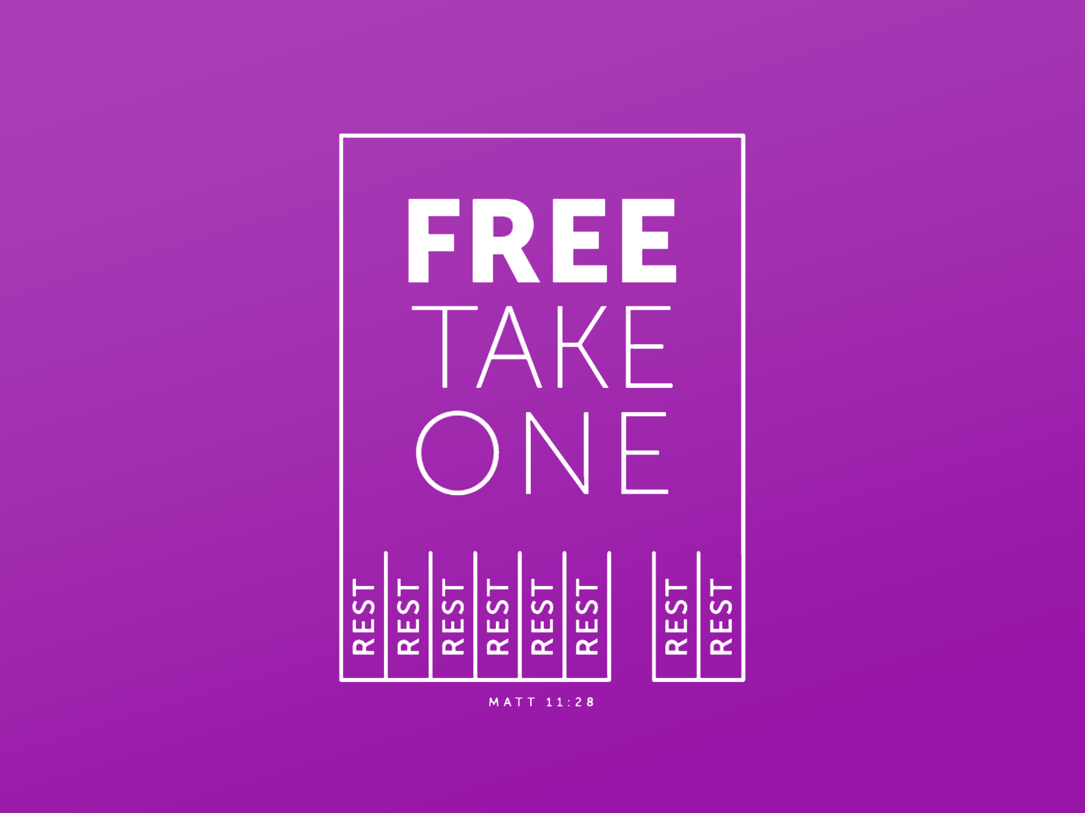 Free Take One poster christian christianity