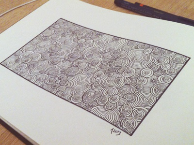 Fun little doodle doodle sketch drawing circles cluster
