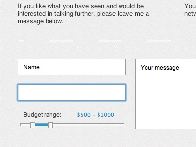 Flugeiden.com - contact form contactform web webdesign ui slider input contact form