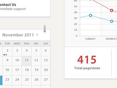 Dashboard dashboard admin analytics calendar help light red blue