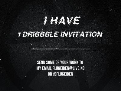 1 Dribbble invitation dribbble invite invitation space
