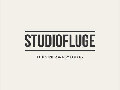 Logodesign for Studiofluge logo cream black lines sans-serif