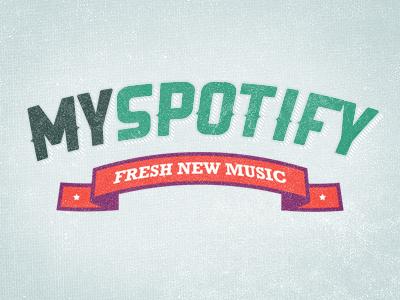 My Spotify - Logo logo typo ribbon texture