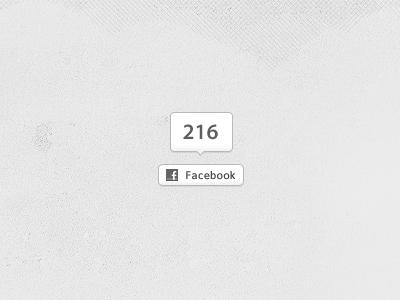 Facebookbutton with counter - PSD Freebie facebook button counter white grey neutral