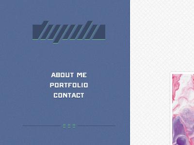 Flugeiden.com - remake flugeiden web blue grey grid logo simple minimalistic portfolio
