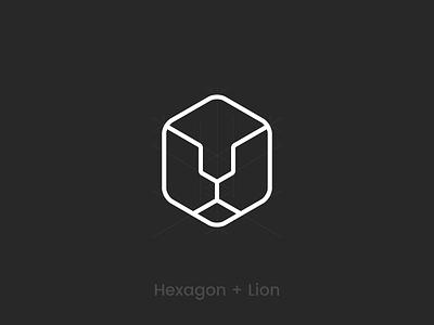 System Design box design branding agency identity logogrid logoprocess branding box logo lionminimal box cube hexagon lionlogo lion