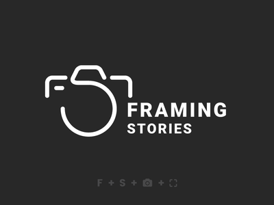 Framing Stories frame lens shutter fs logo photography photography logo camera logo branding logo