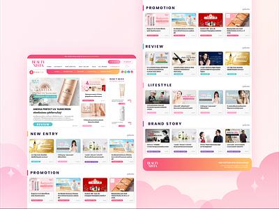 PONITA Landing page redesign ui design freelance website pink cute redesign landing page design web design