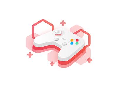 Game icon joystick red icon game